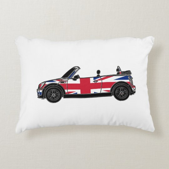Convertible with Union Jack Decorative Cushion