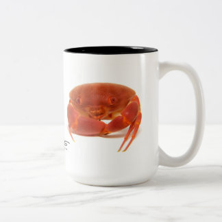 Convex Crab, Carpilius convexus Two-Tone Coffee Mug