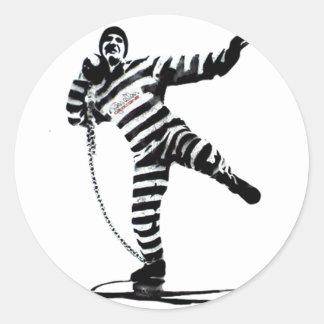 convict shotput pop art sticker
