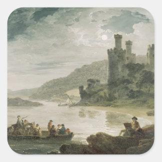 Conway Castle, 1794 Square Sticker