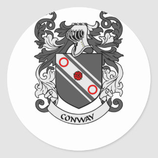 CONWAY Coat of Arms Round Sticker