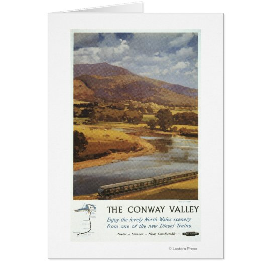 Conway Valley Scene British Railways Poster Card