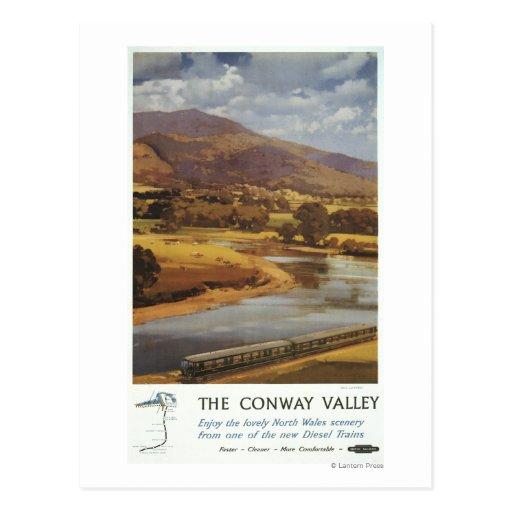 Conway Valley Scene British Railways Poster Postcards