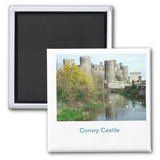 Conwy Castle Square Magnet