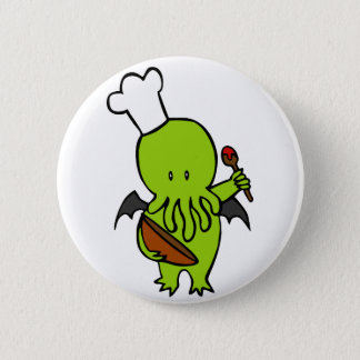 Cook Along With Cthulhu 6 Cm Round Badge