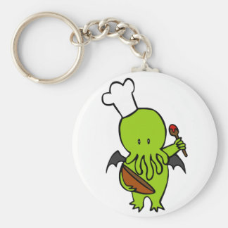 Cook Along With Cthulhu Basic Round Button Key Ring