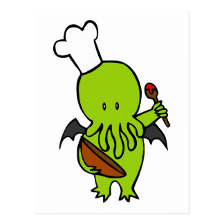 Cook Along With Cthulhu Postcard