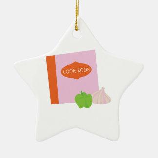 Cook Book Ceramic Star Decoration