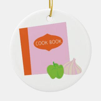 Cook Book Round Ceramic Decoration