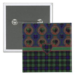 Cook clan Plaid Scottish kilt tartan 15 Cm Square Badge