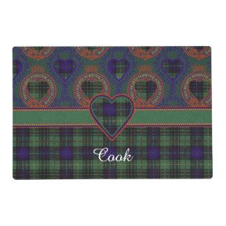 Cook clan Plaid Scottish kilt tartan Laminated Place Mat