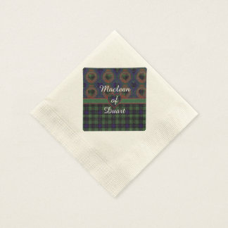 Cook clan Plaid Scottish kilt tartan Paper Napkin