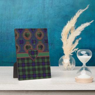 Cook clan Plaid Scottish kilt tartan Plaque