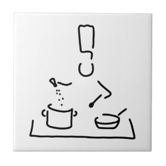cook gourmet stove small square tile
