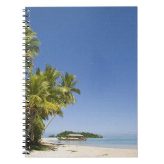 Cook Islands, Aitutaki. Polynesian canoe tour to Note Books