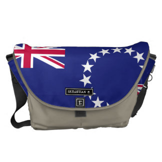 Cook Islands flag Courier Bags