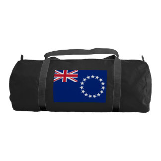 COOK ISLANDS FLAG GYM DUFFEL BAG