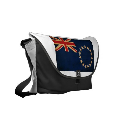 Cook Islands Flag Messenger Bags