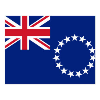Cook Islands Flag Postcard