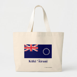 Cook Islands Flag with Name in Maori Jumbo Tote Bag