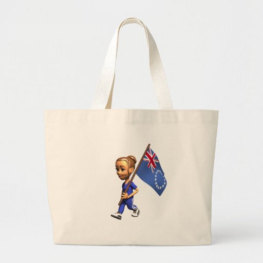 Cook Islands Girl Canvas Bags