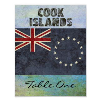 Cook Islands Table Number Poster
