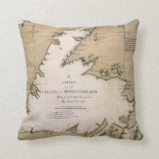 COOK: NEWFOUNDLAND, 1763 CUSHION