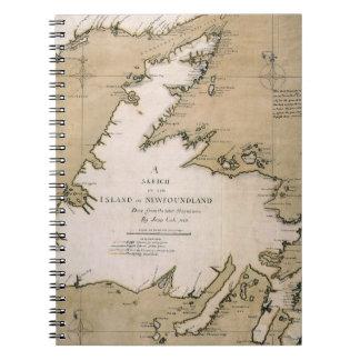COOK: NEWFOUNDLAND, 1763 SPIRAL NOTE BOOK