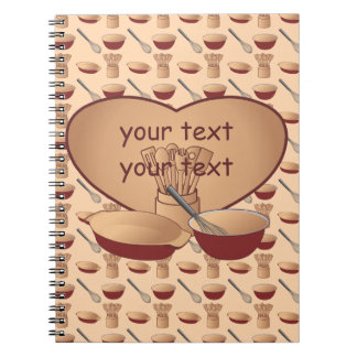 Cook or Chef Personalized Spiral Note Books