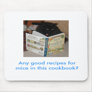 Cookbook Kitty mouse pad