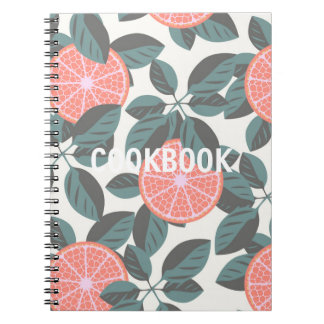 COOKBOOK, Spiral Citrus Spiral Notebooks