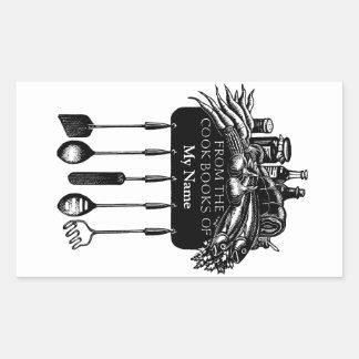 Cookbooks Bookplate Sticker