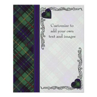 Cooke clan Plaid Scottish kilt tartan 11.5 Cm X 14 Cm Flyer