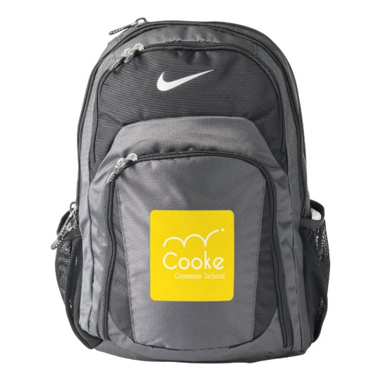 Cooke Grammar School Nike Backpack, Black/Grey Backpack