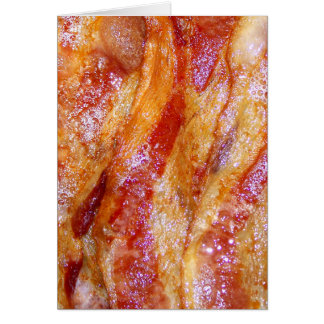 Cooked Bacon Greeting Card