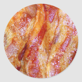 Cooked Bacon Round Sticker