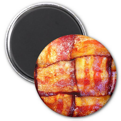 Cooked Bacon Weave Fridge Magnets