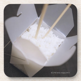 Cooked Rice in a To-go Container Coaster