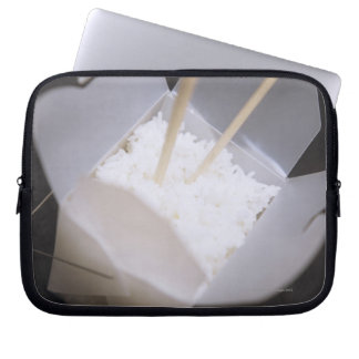 Cooked Rice in a To-go Container Laptop Sleeve