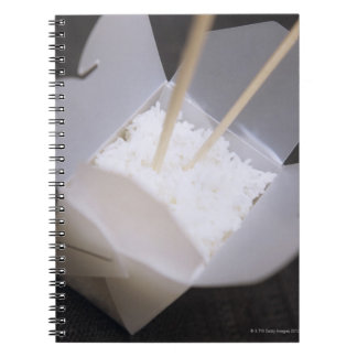 Cooked Rice in a To-go Container Notebook
