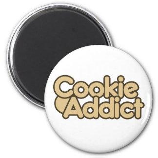 Cookie Addict 6 Cm Round Magnet