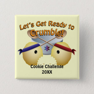 Cookie Baking Competition 15 Cm Square Badge