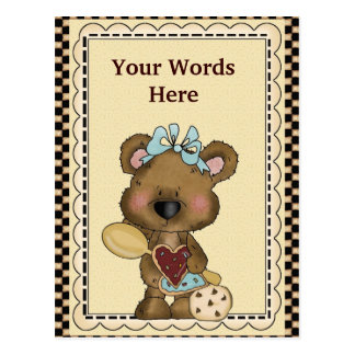 Cookie Bear Postcard