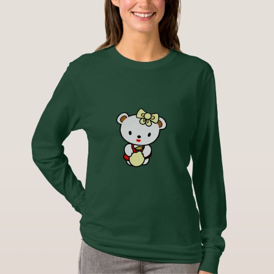 Cookie Bear Womens Long Sleeve Shirt