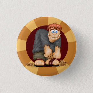 COOKIE BIG MONSTER CUTE  Button  Small, 1¼ Inch