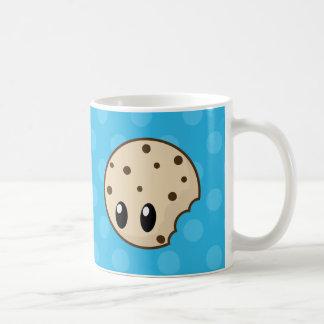 Cookie Bite Blue Dots Coffee Mugs