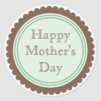 Cookie Cut Chocolate Mint Mother's Day Stickers