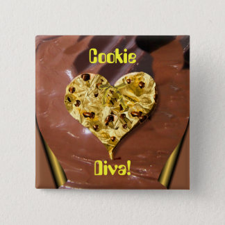 Cookie Diva! 15 Cm Square Badge