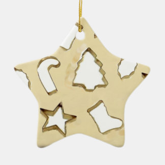 Cookie Exchange Ceramic Star Decoration
