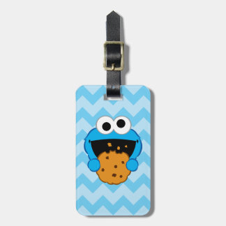 Cookie Face Luggage Tag